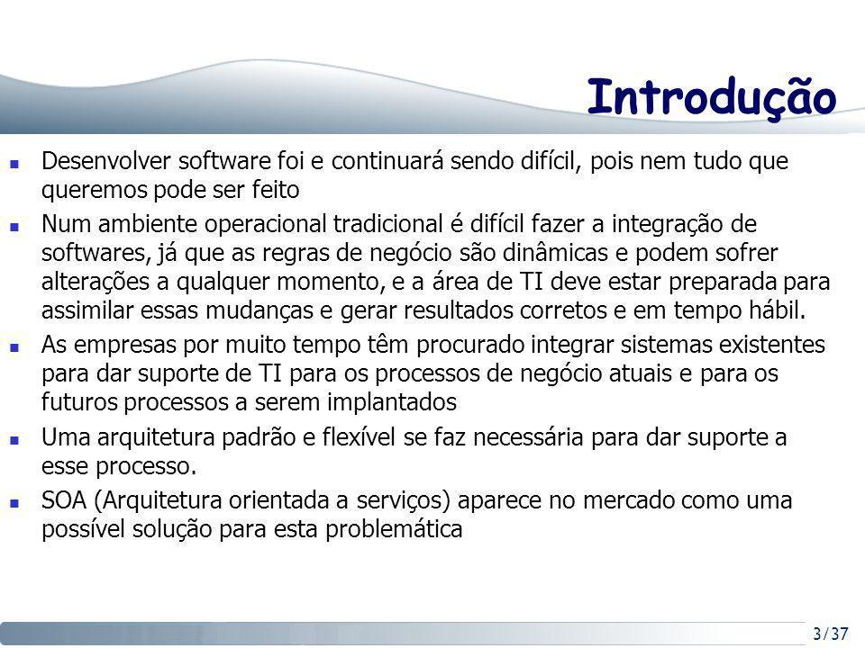Introdução Desenvolver software foi e continuará sendo difícil, pois nem tudo que queremos pode ser feito.