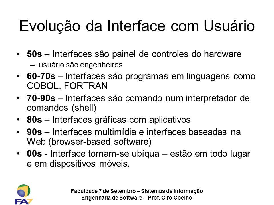 Evolução da Interface com Usuário
