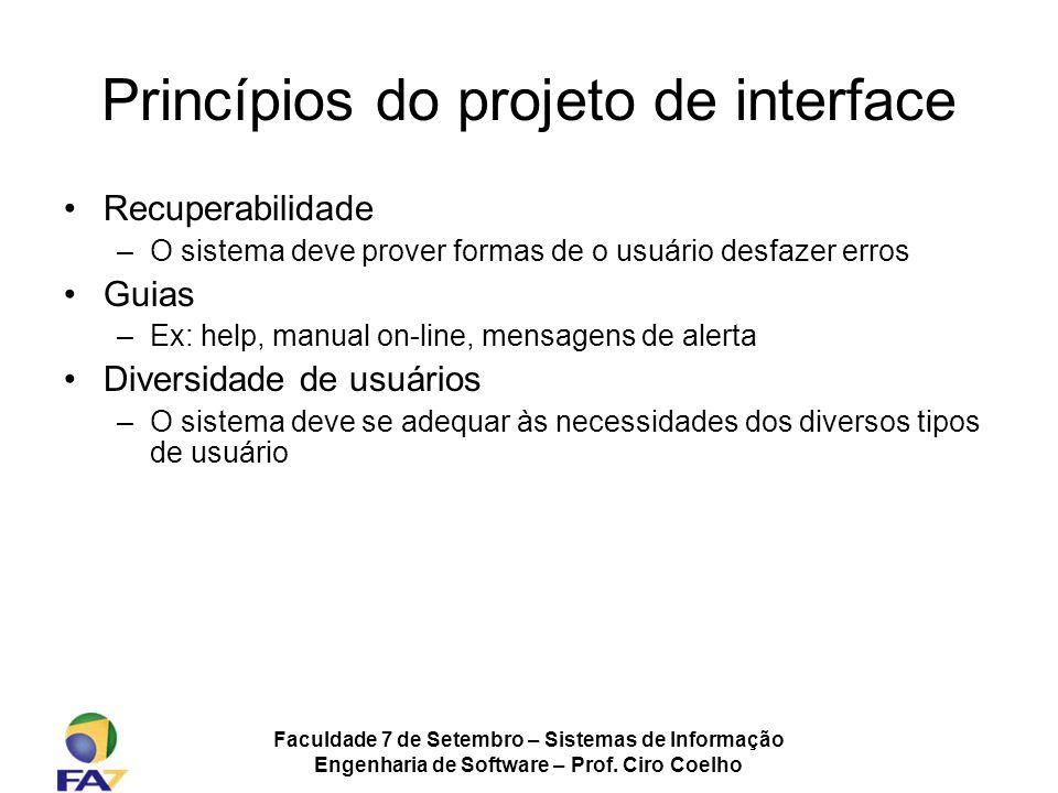 Princípios do projeto de interface