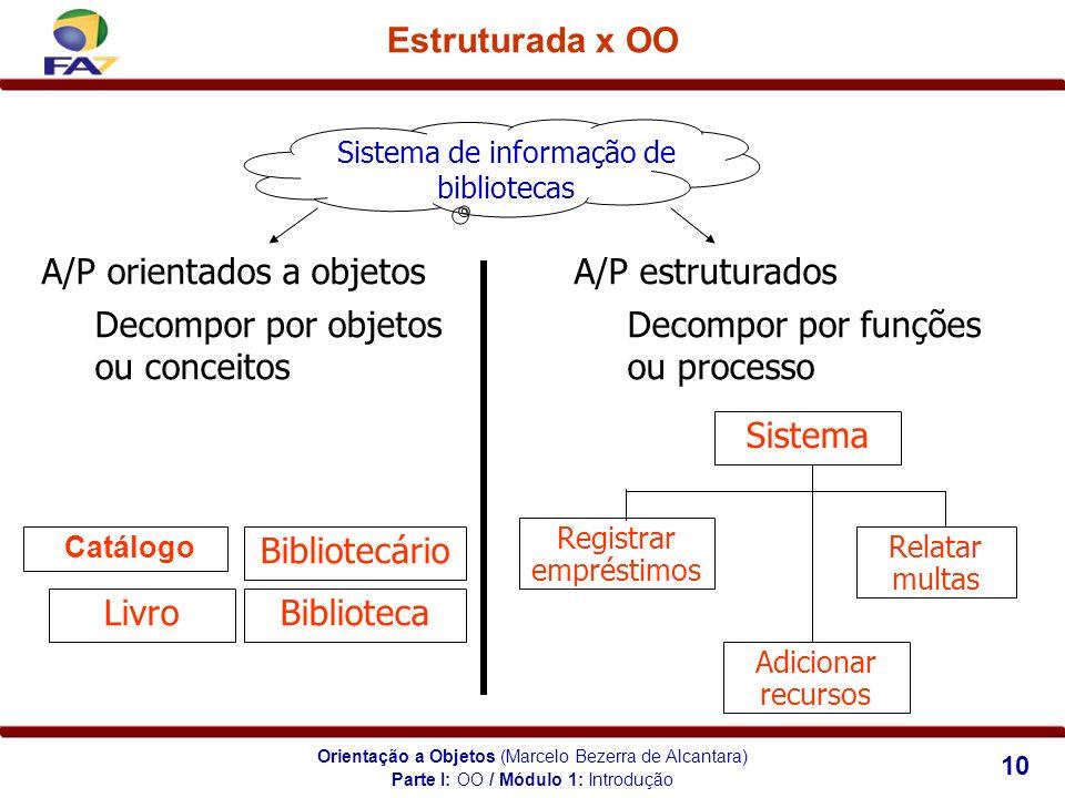 A/P orientados a objetos A/P estruturados