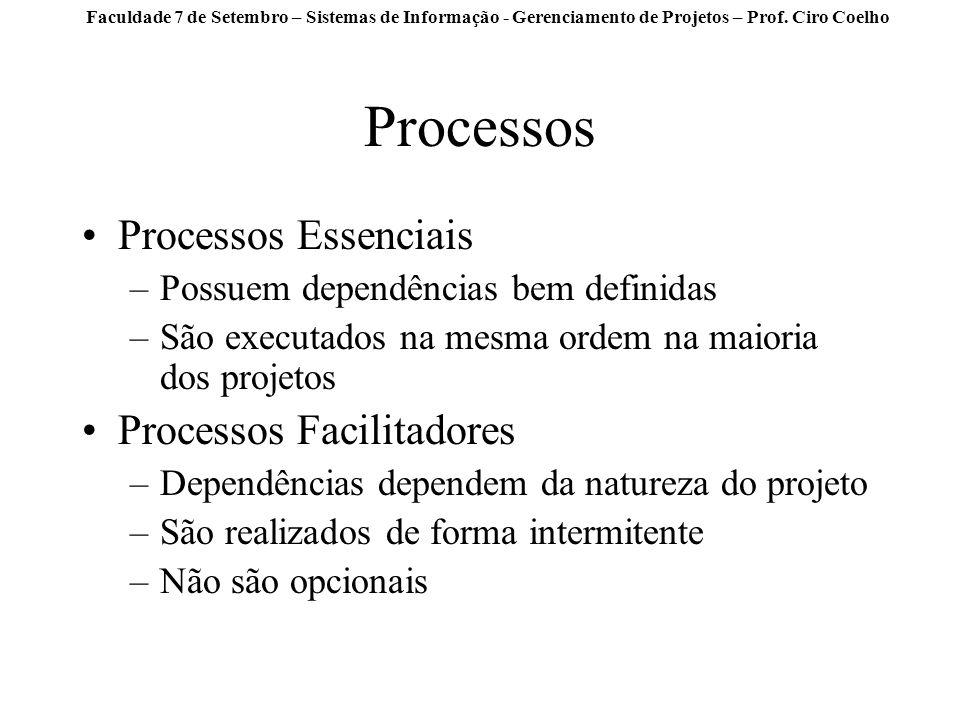 Processos Processos Essenciais Processos Facilitadores