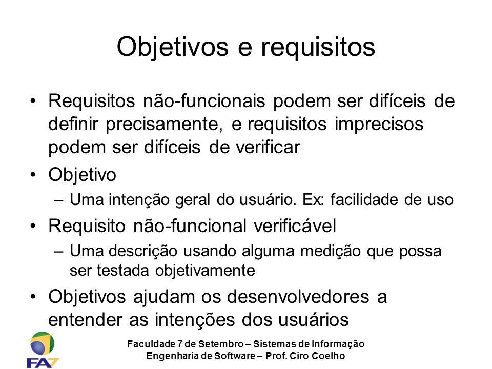 Objetivos e requisitos