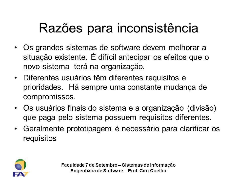 Razões para inconsistência