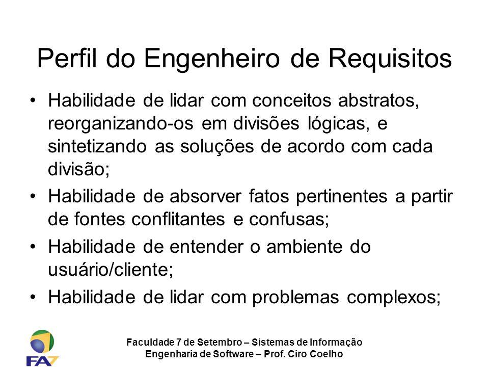 Perfil do Engenheiro de Requisitos