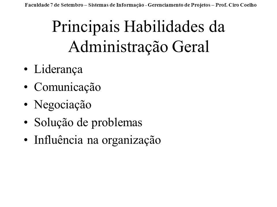 Principais Habilidades da Administração Geral