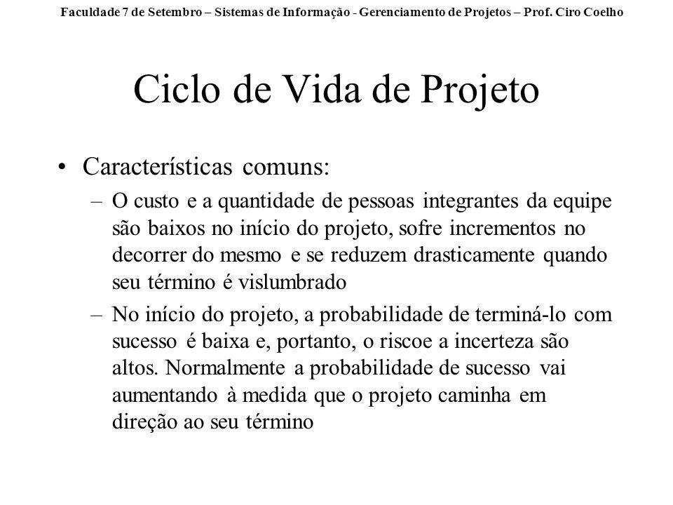 Ciclo de Vida de Projeto