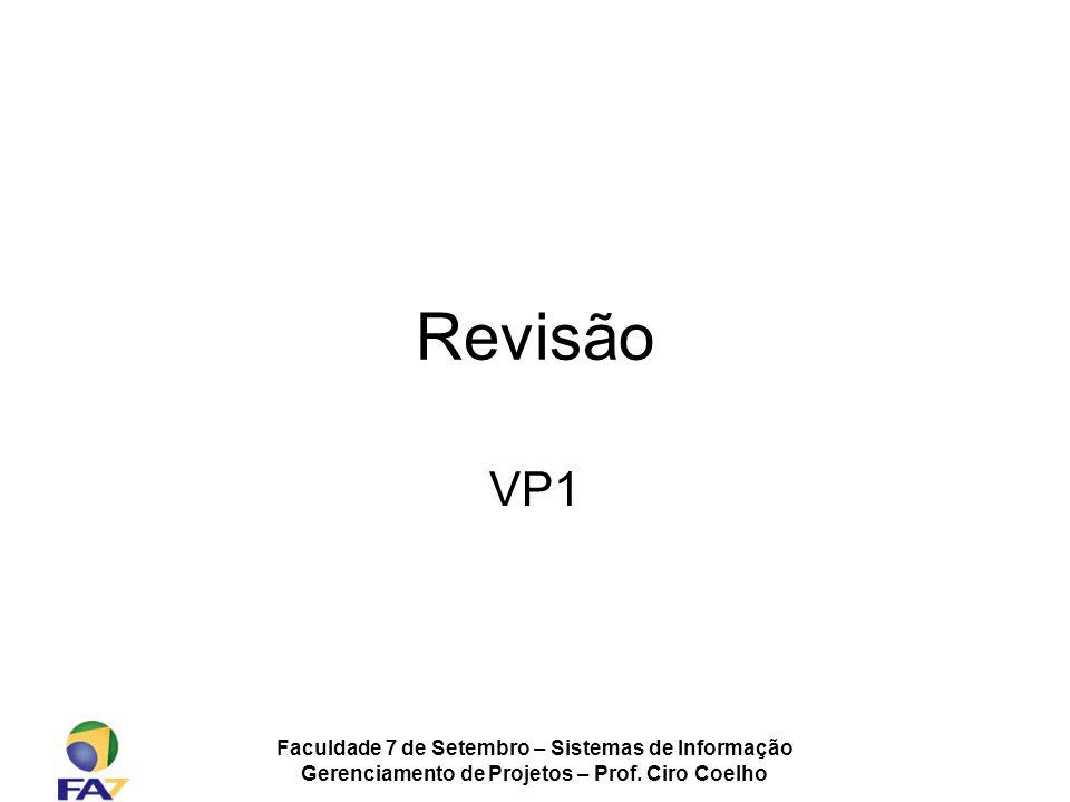 Revisão VP1 Faculdade 7 de Setembro – Sistemas de Informação