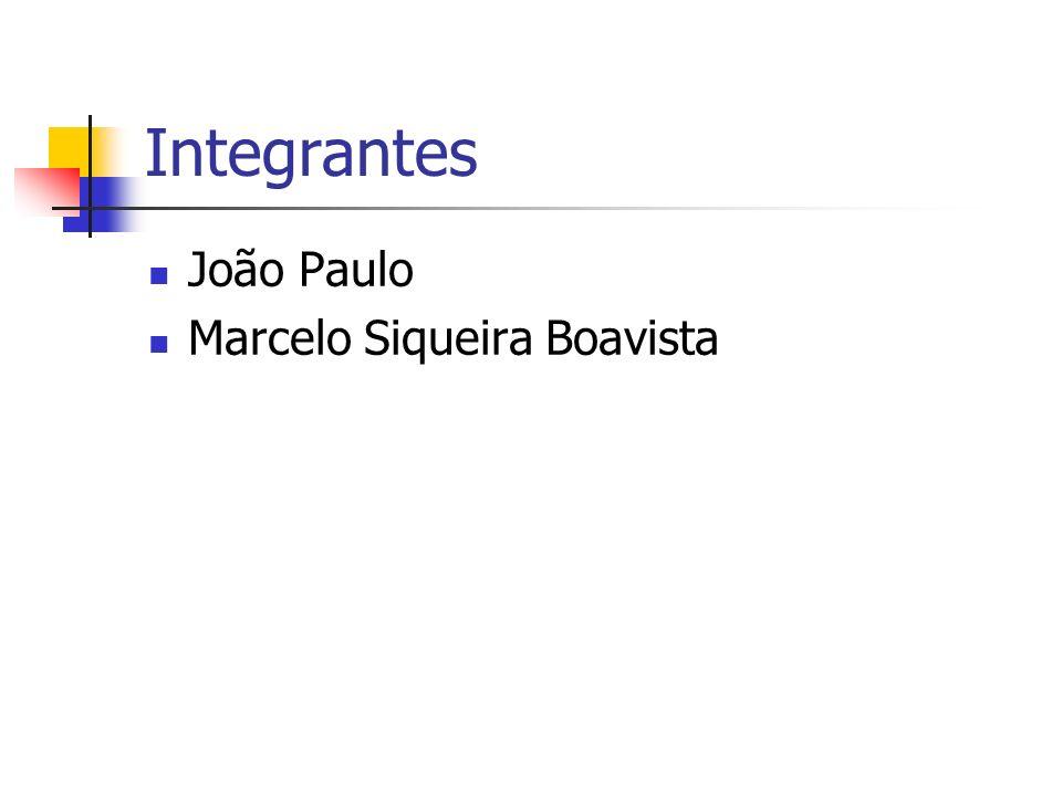 Integrantes João Paulo Marcelo Siqueira Boavista