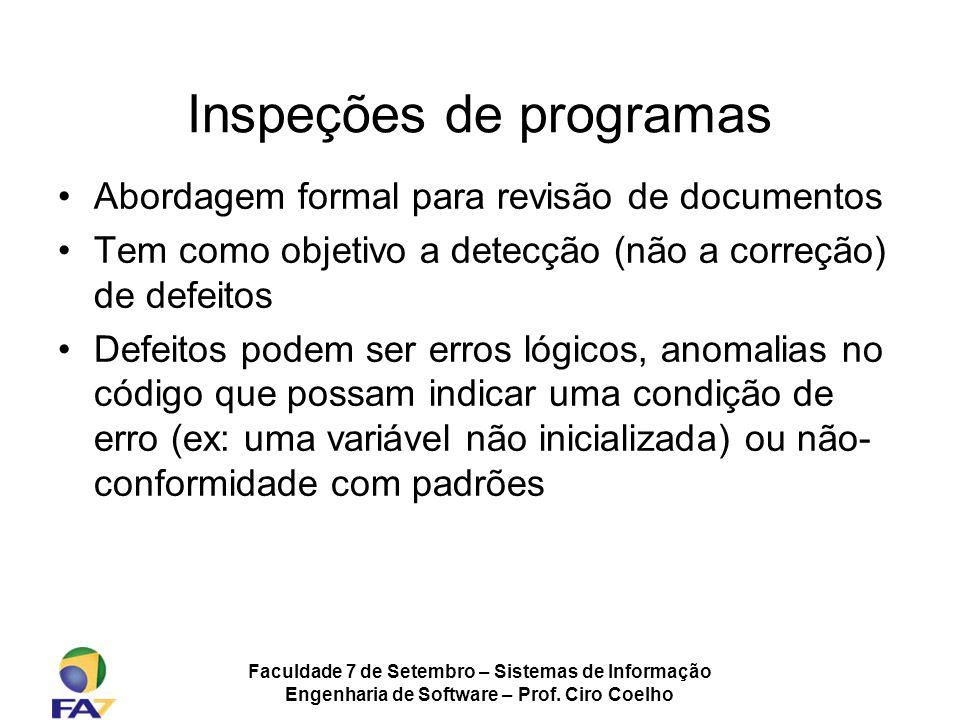 Inspeções de programas