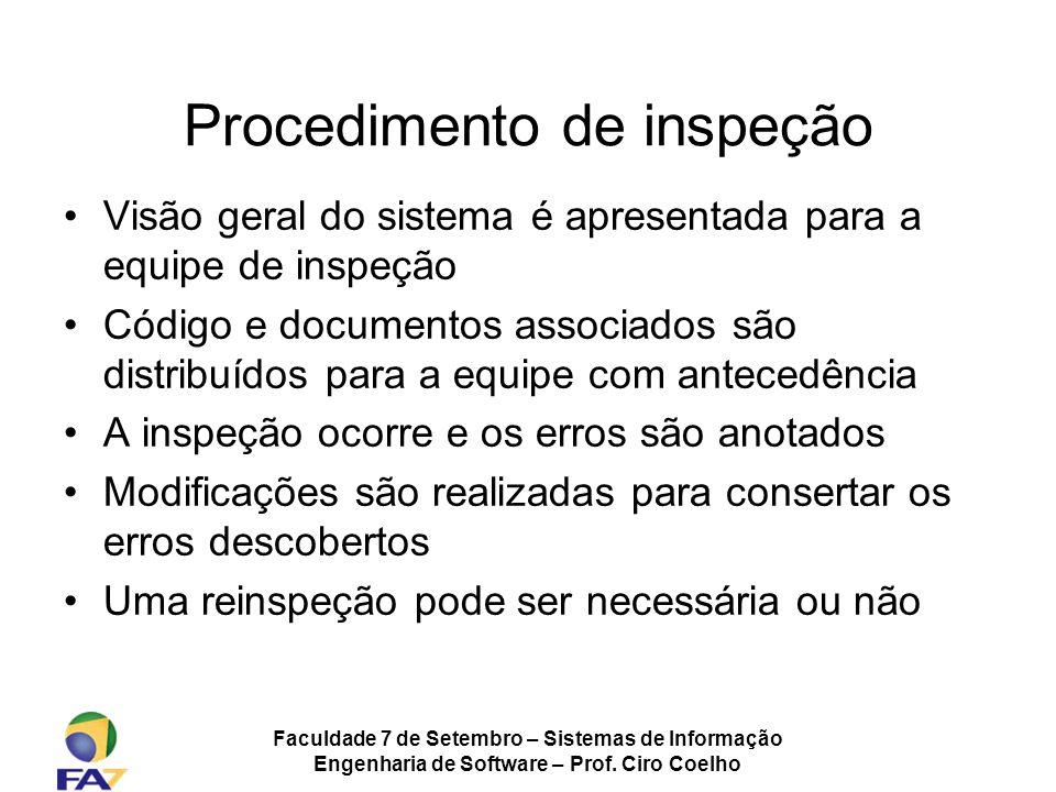 Procedimento de inspeção