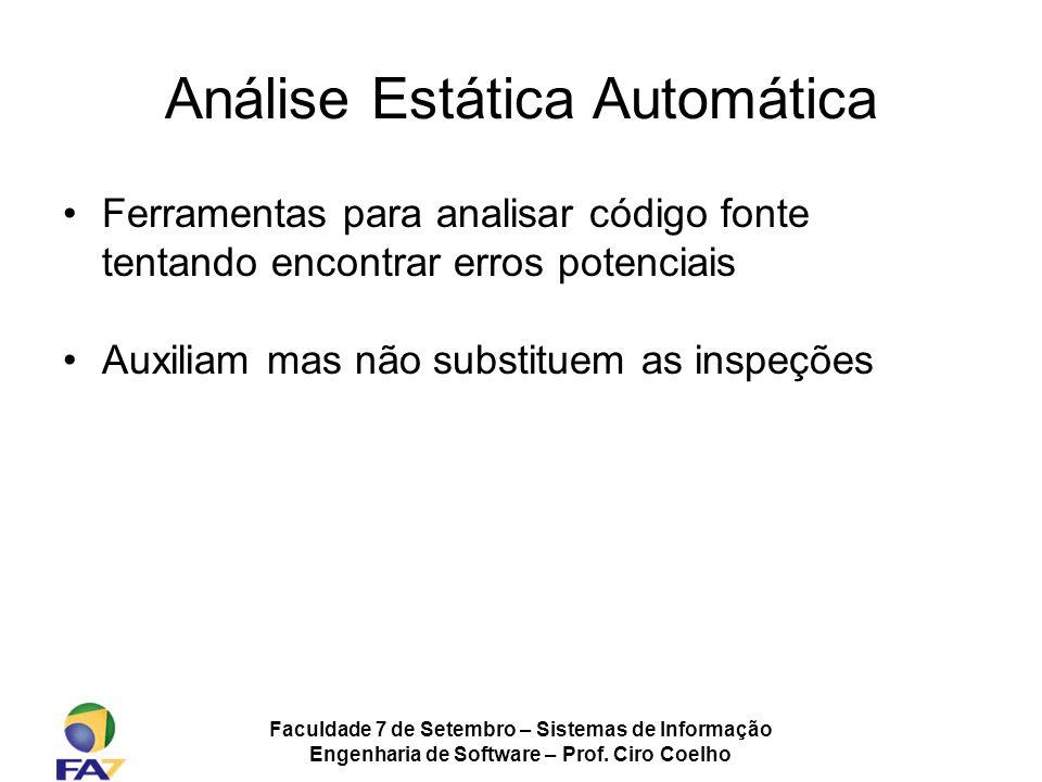 Análise Estática Automática