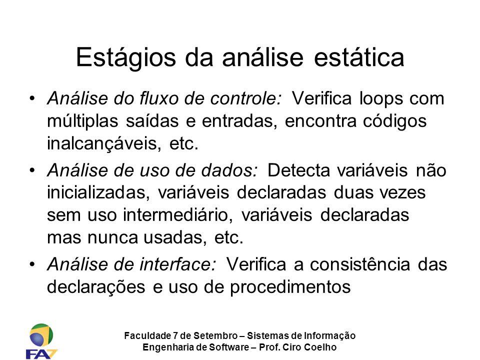 Estágios da análise estática