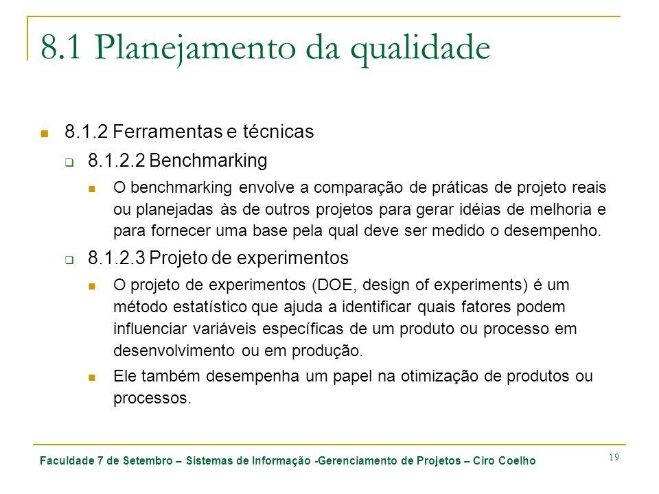 8.1 Planejamento da qualidade