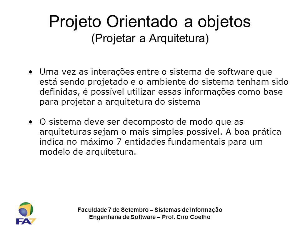 Projeto Orientado a objetos (Projetar a Arquitetura)