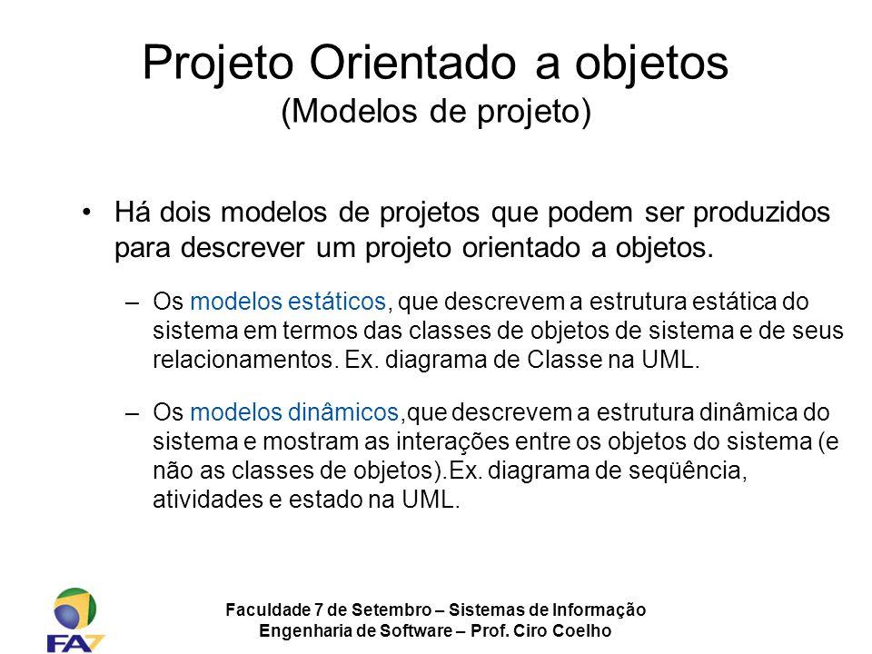Projeto Orientado a objetos (Modelos de projeto)