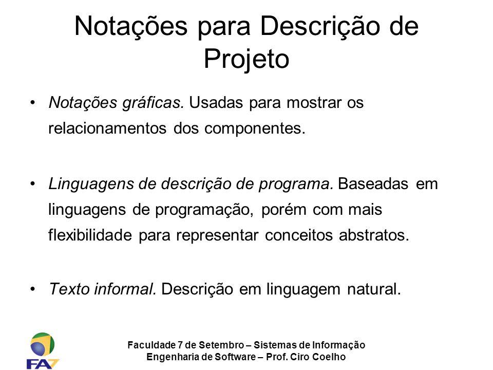 Notações para Descrição de Projeto