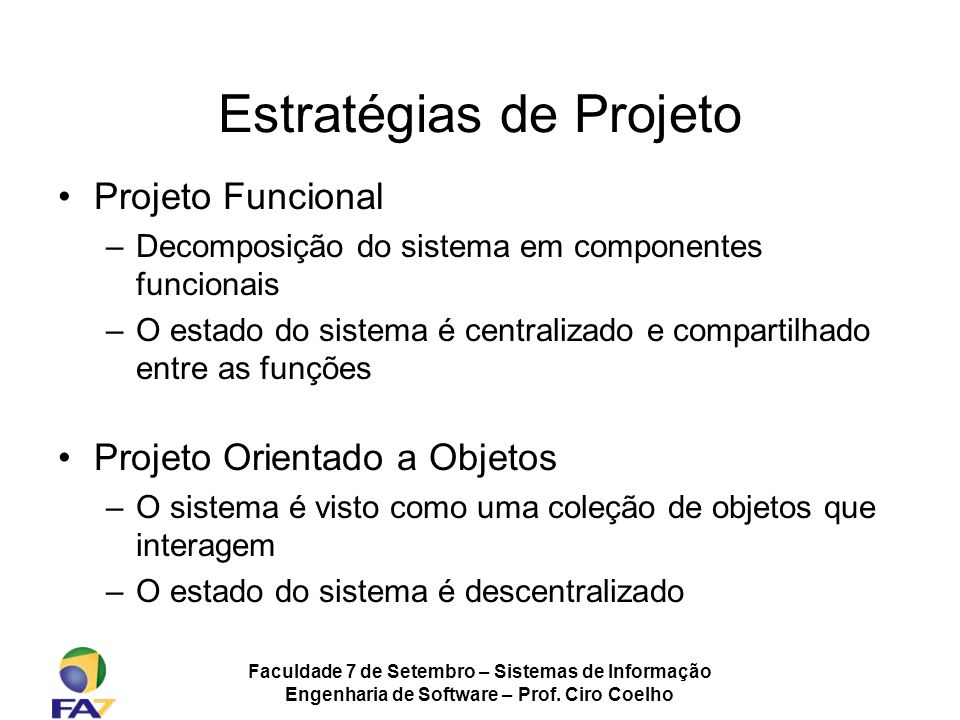 Estratégias de Projeto