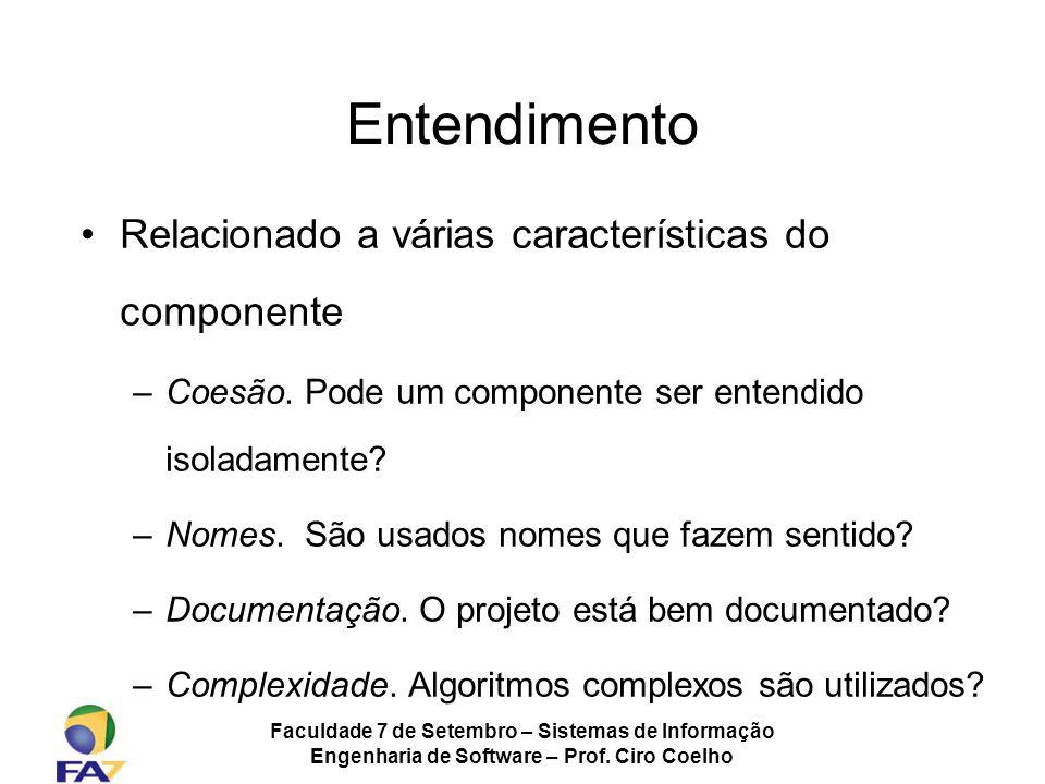 Entendimento Relacionado a várias características do componente