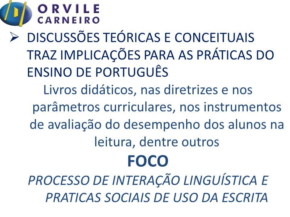 PROCESSO DE INTERAÇÃO LINGUÍSTICA E PRATICAS SOCIAIS DE USO DA ESCRITA