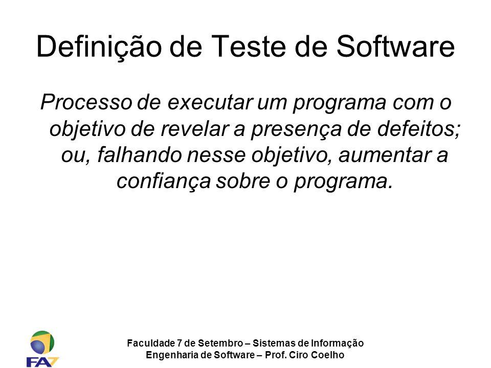 Definição de Teste de Software