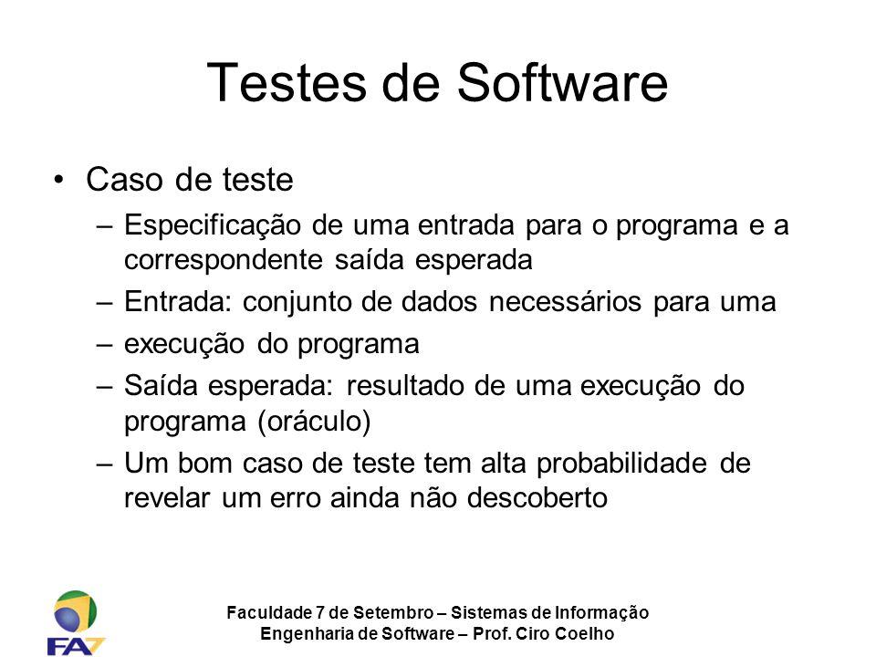 Testes de Software Caso de teste