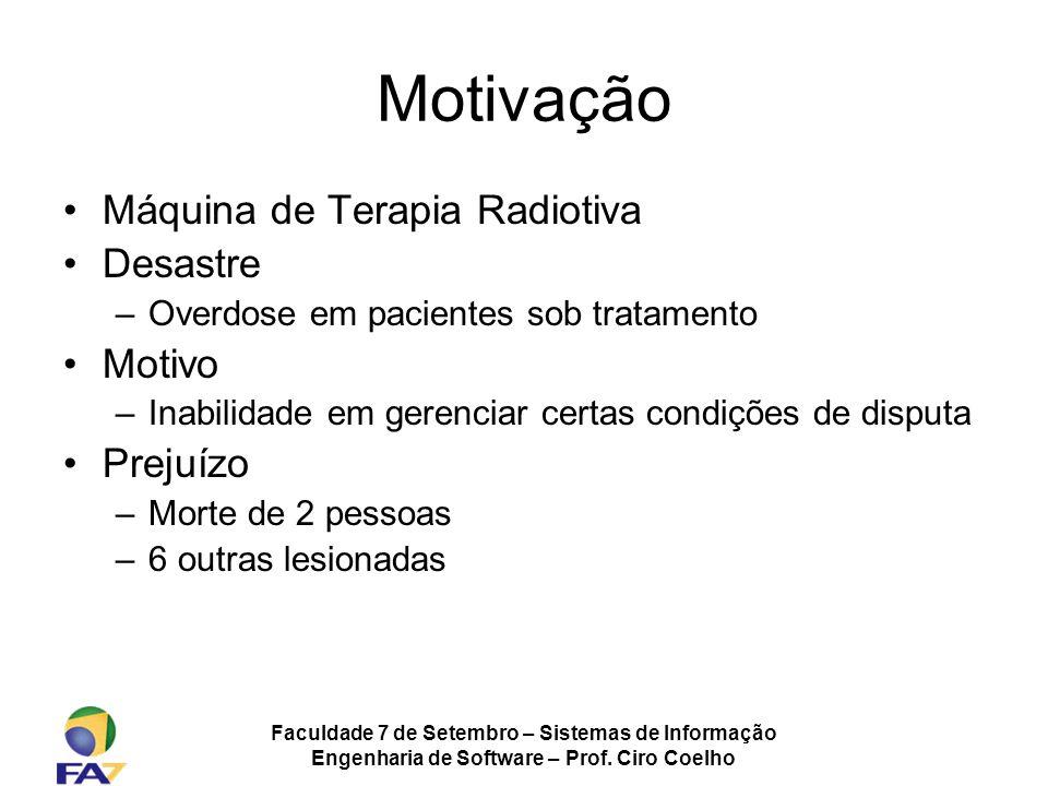 Motivação Máquina de Terapia Radiotiva Desastre Motivo Prejuízo