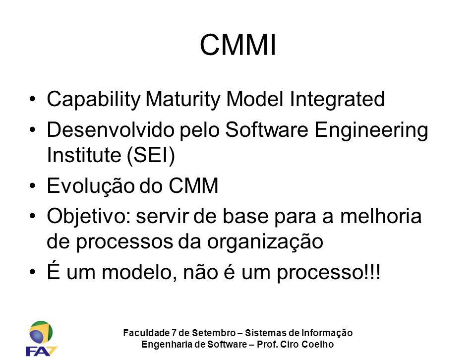 CMMI Capability Maturity Model Integrated