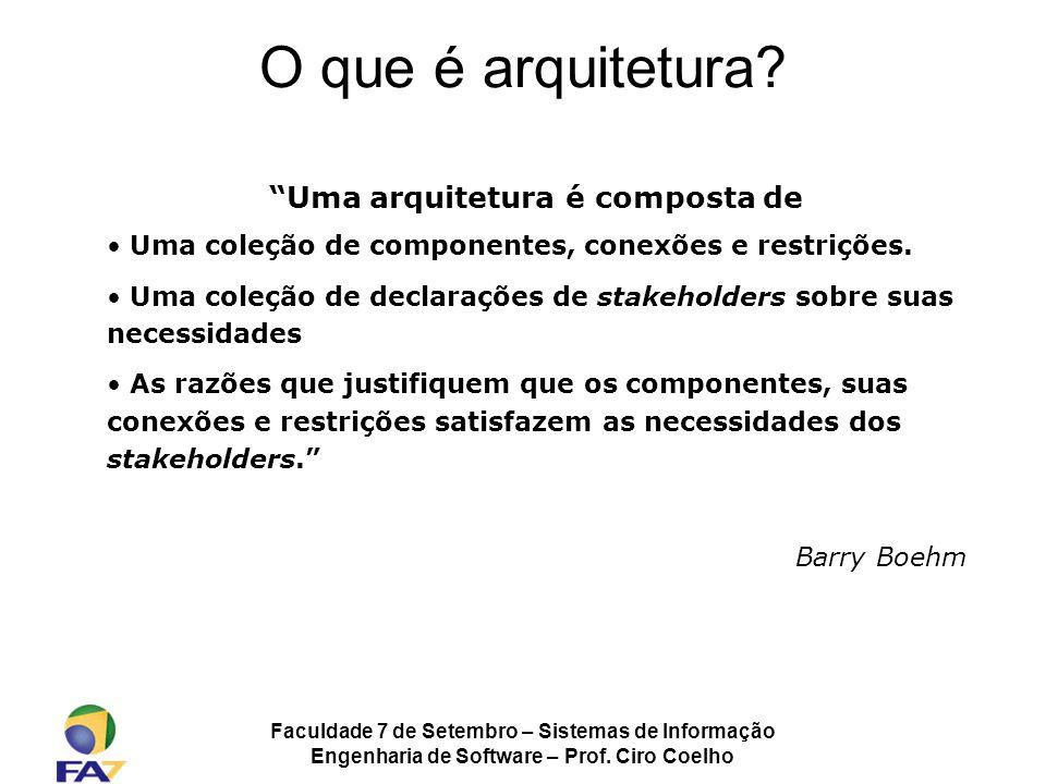 O que é arquitetura Uma arquitetura é composta de