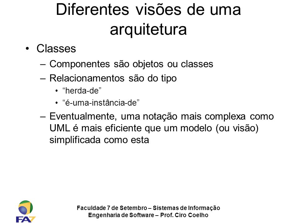 Diferentes visões de uma arquitetura