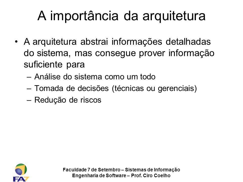 A importância da arquitetura