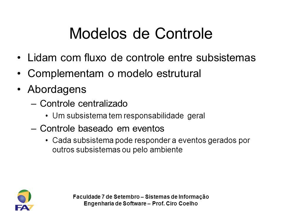 Modelos de Controle Lidam com fluxo de controle entre subsistemas