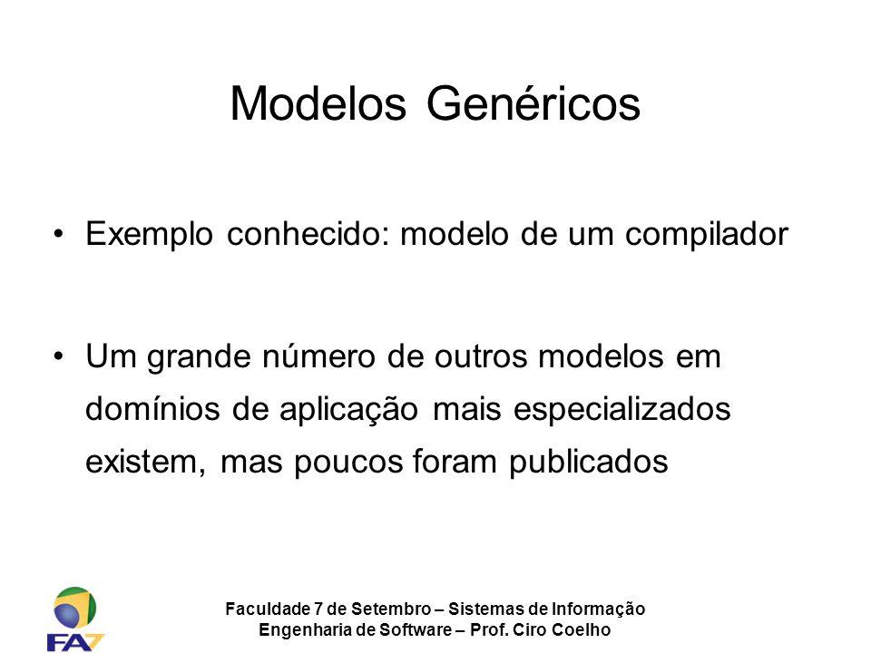 Modelos Genéricos Exemplo conhecido: modelo de um compilador