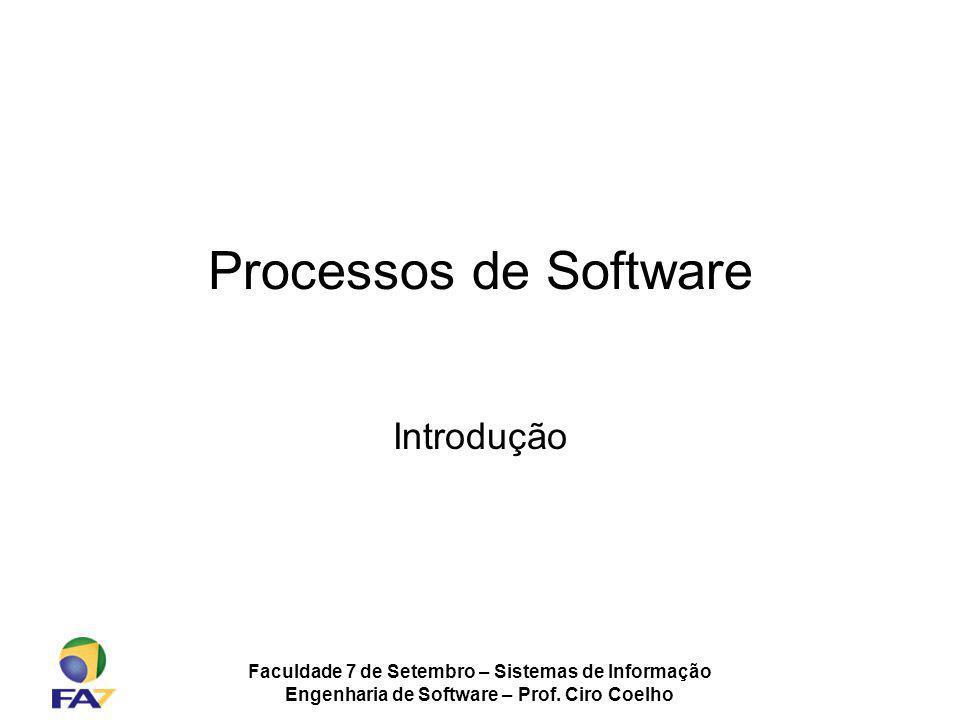 Processos de Software Introdução