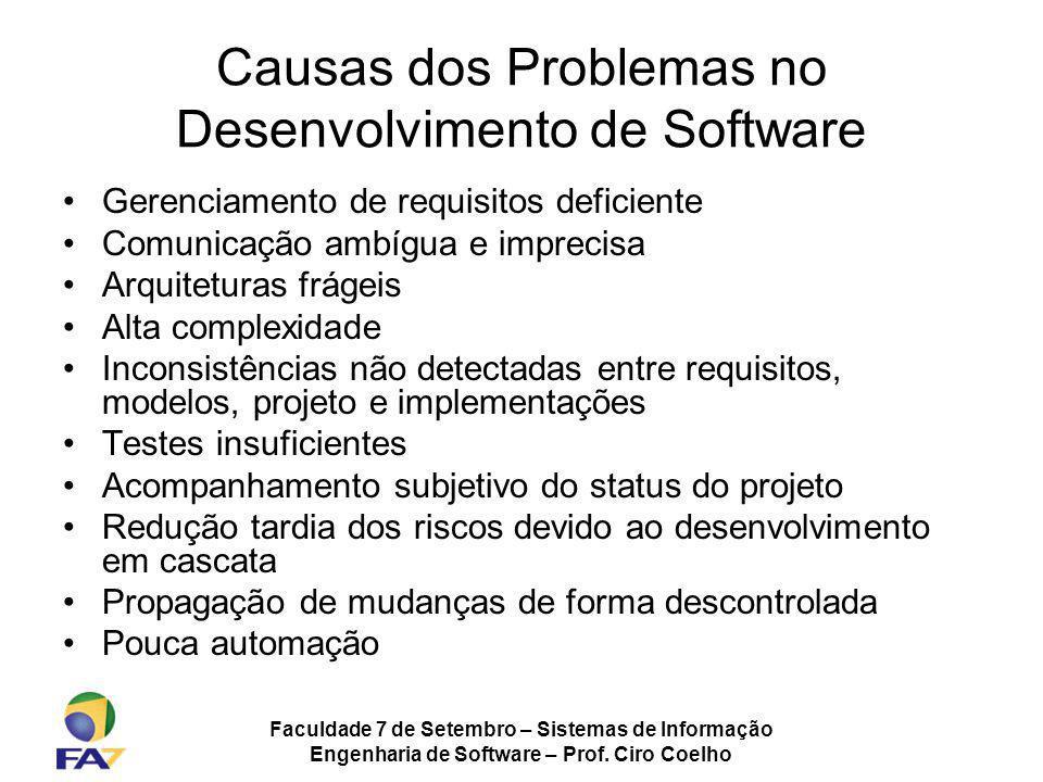 Causas dos Problemas no Desenvolvimento de Software