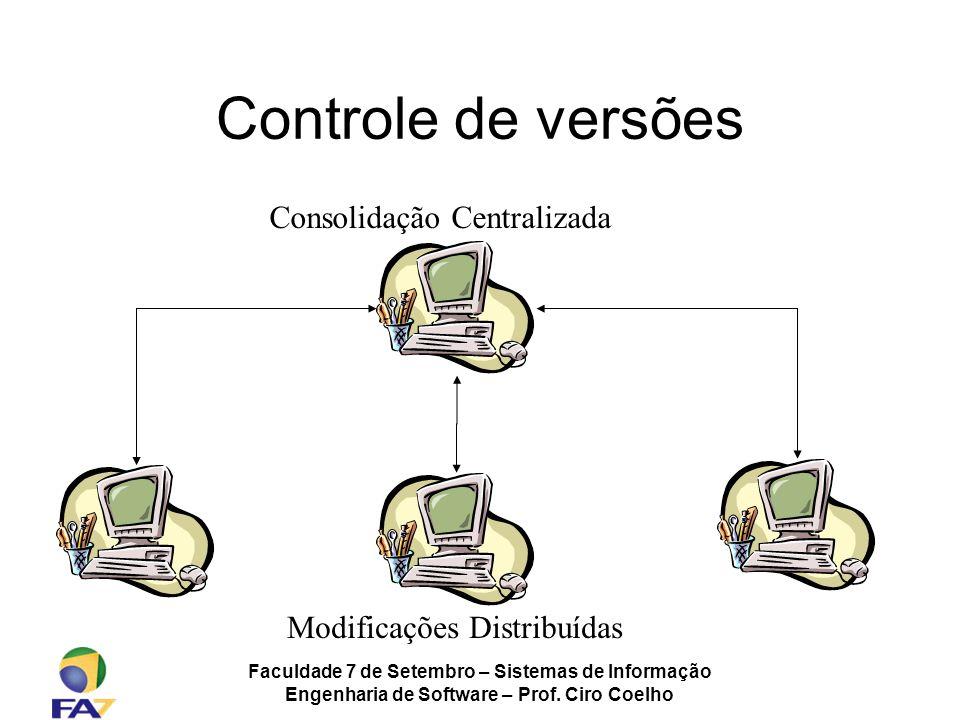 Controle de versões Consolidação Centralizada