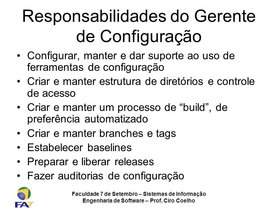 Responsabilidades do Gerente de Configuração