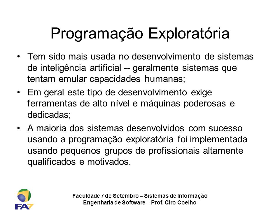Programação Exploratória