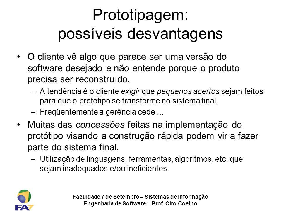 Prototipagem: possíveis desvantagens