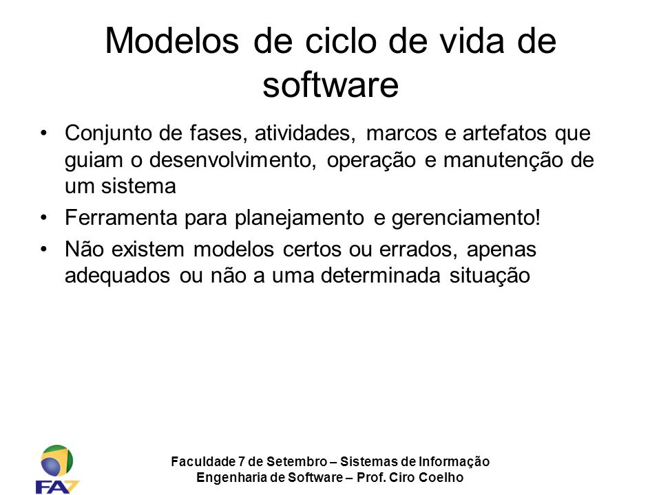 Modelos de ciclo de vida de software