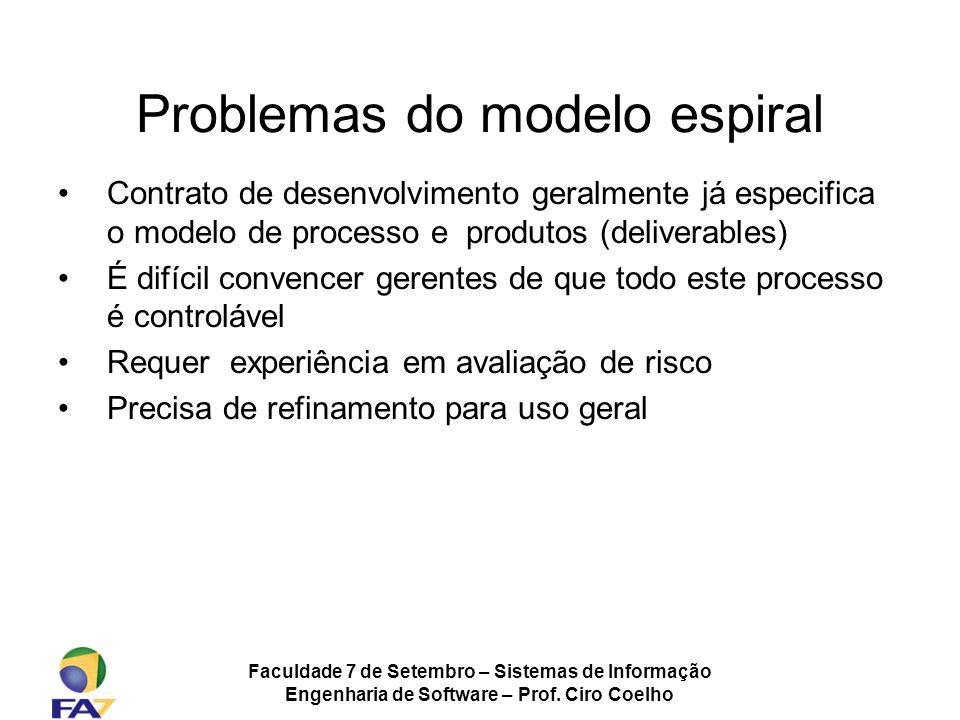 Problemas do modelo espiral
