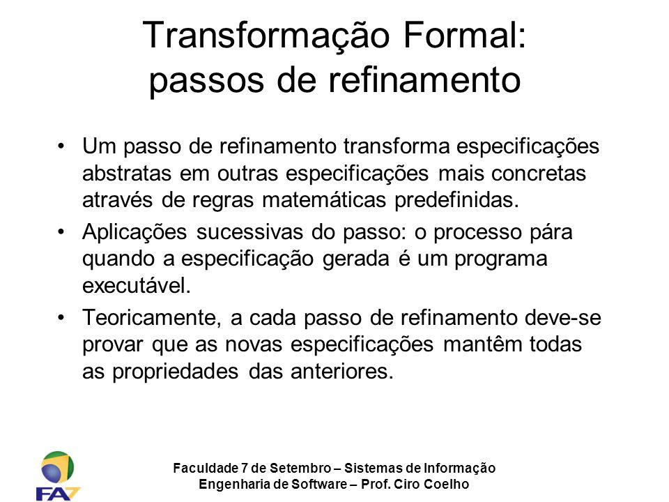Transformação Formal: passos de refinamento