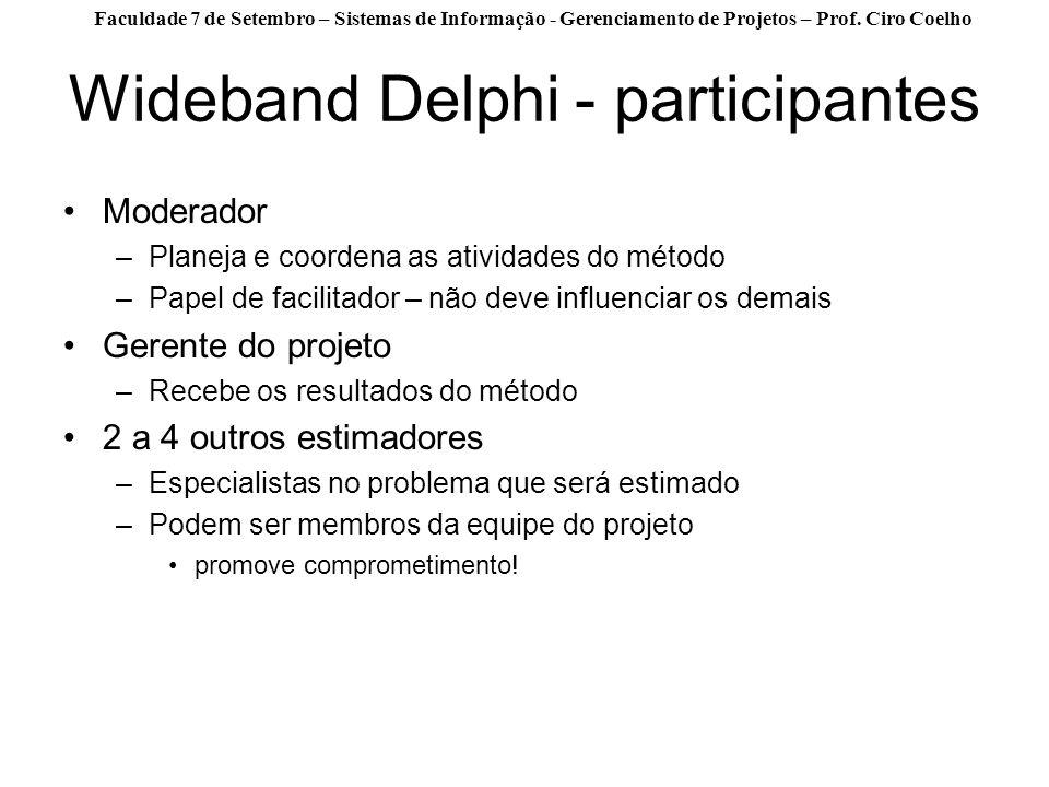 Wideband Delphi - participantes