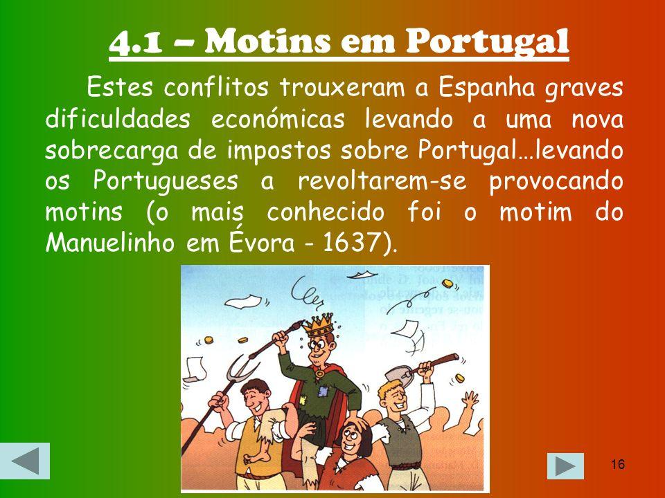 4.1 – Motins em Portugal