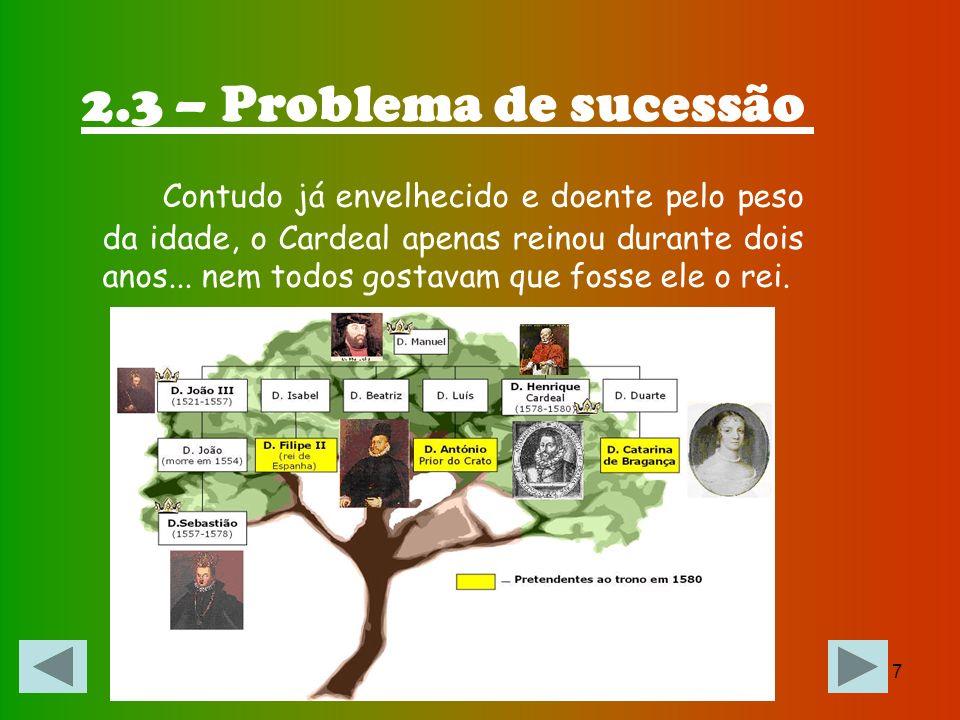 2.3 – Problema de sucessão