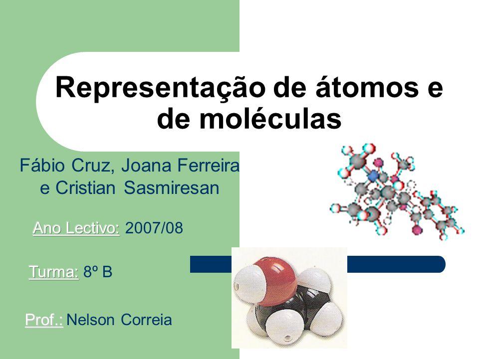 Representação de átomos e de moléculas