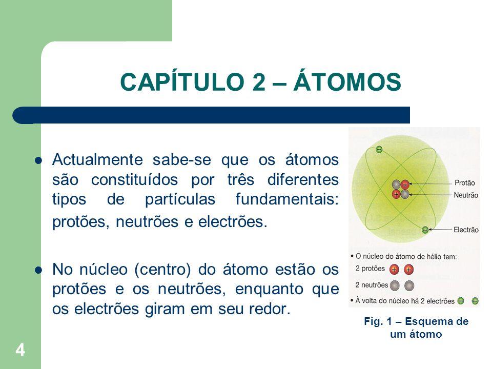 Fig. 1 – Esquema de um átomo