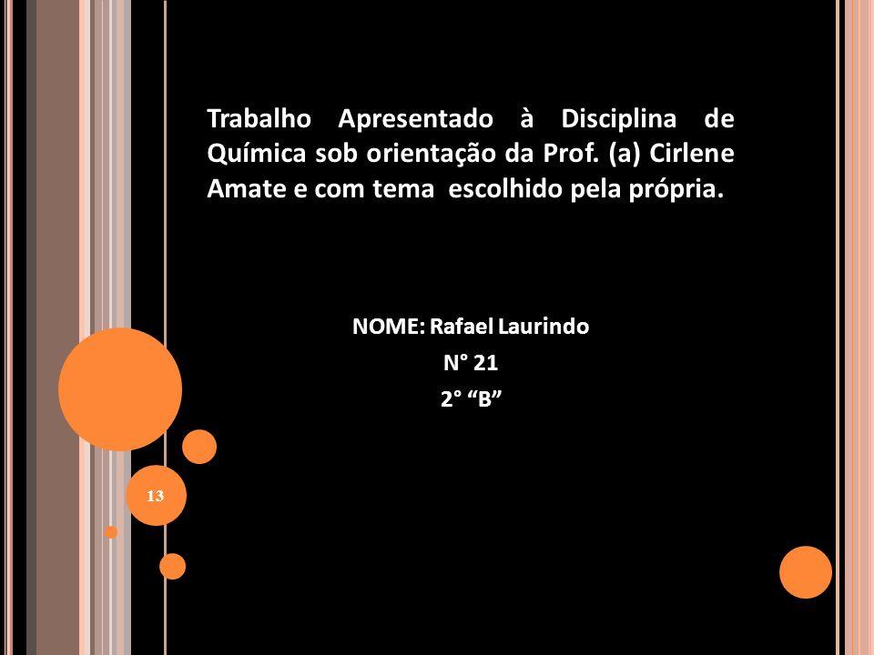 NOME: Rafael Laurindo N° 21 2° B