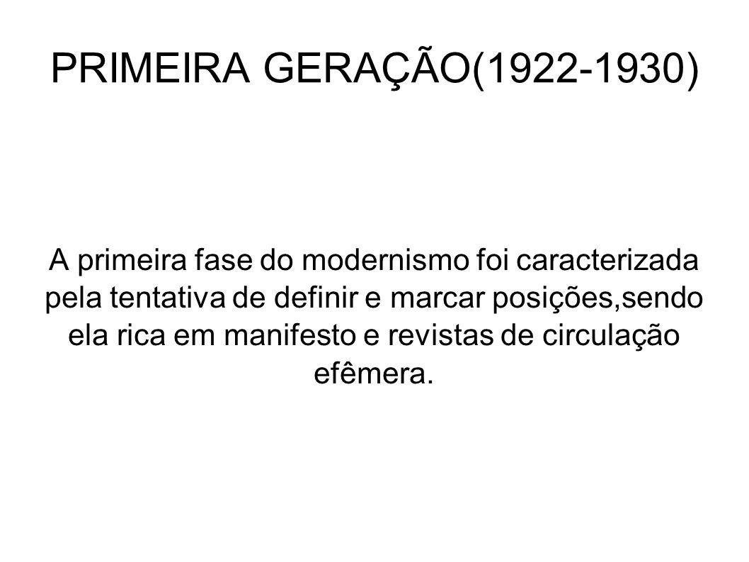 PRIMEIRA GERAÇÃO(1922-1930)