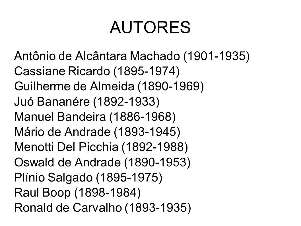 AUTORES Antônio de Alcântara Machado (1901-1935)