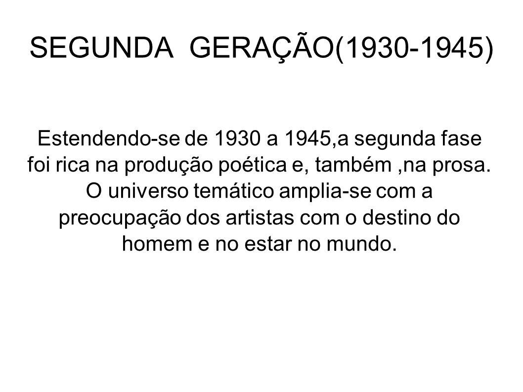 SEGUNDA GERAÇÃO(1930-1945)